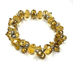 Yellow Crystal Beaded Bracelet